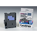 Brother Original DirectLabel schwarz auf blau TX551